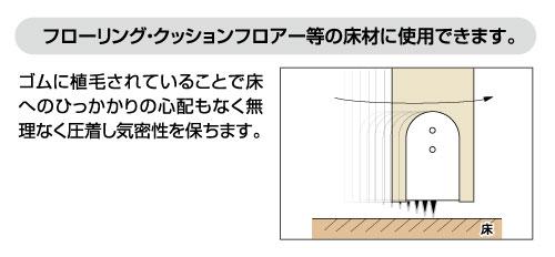 フローリング・クッションフロアー等の床材に使用できます